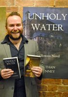 Jonathan McKinney at the Sirens Launch book release party for Unholy Water, A Halloween Novel