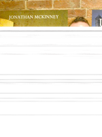 Jonathan McKinney at the Sirens Launch book release party for The Fundamental Miri Mnene by Jonathan McKinney